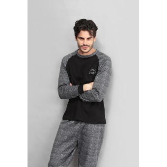 Man pyjama round neck, long...