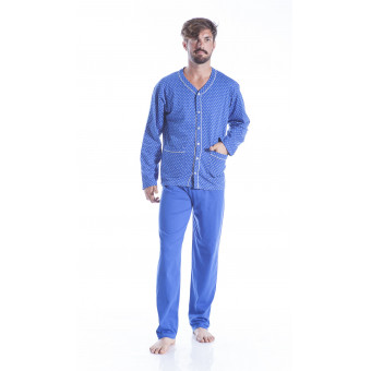 Man pyjama open, Cotton