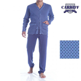 Man pyjama open, cotton -...