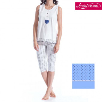 Woman Capri pyjama, cotton