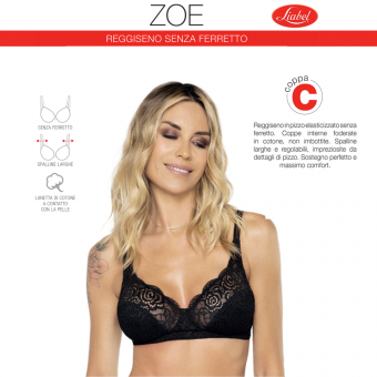 Bra ZOE: with lace and no...