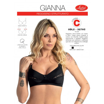bra GIANNA with lace (cup...