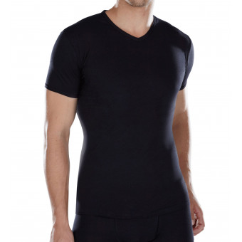 Man T-Shirt V neck, short...