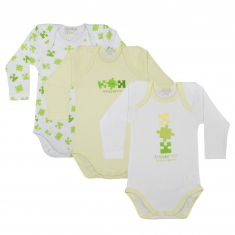3 Pack Baby Body, long...