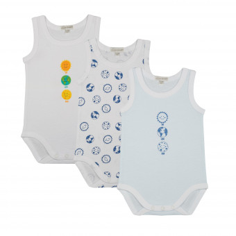 Pack 3 body neonato spalla...